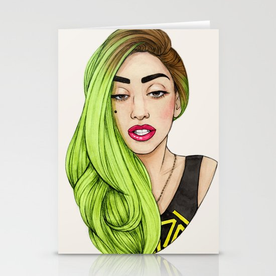 Lady Neon Stationery Cards