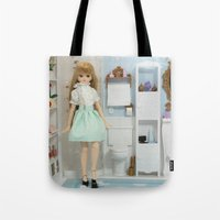 bathroom Tote Bags featuring Bathroom by ♥  Little Enchanted World ♥