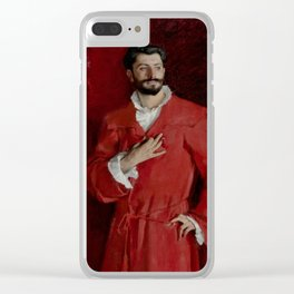 "John Singer Sargent ""Dr. Pozzi at Home"" Clear iPhone Case"