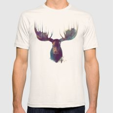 Moose Natural MEDIUM Mens Fitted Tee