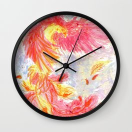 Firey Phoenix Wall Clock
