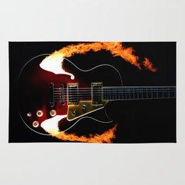 Burning Rock Guitar Rug