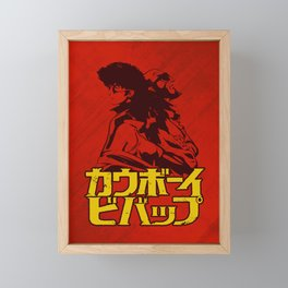 001b Cowboy bebop Red Framed Mini Art Print