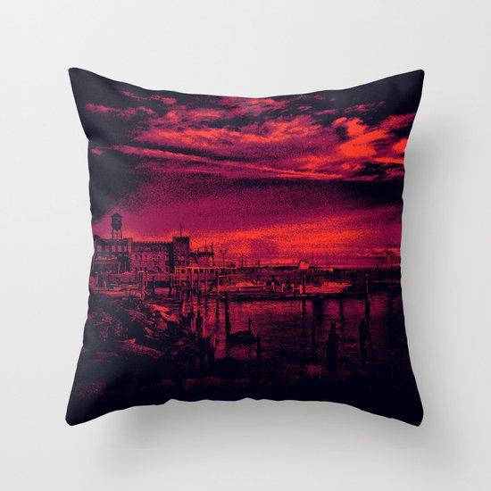 Sunset Over Bristol Harbor 3 Throw Pillow