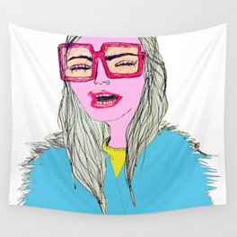 Happy, Vogue Model Wall Tapestry