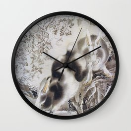 Rabbits - Digital Remastered Edition Wall Clock