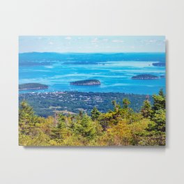 View of Bar Harbor, Maine from Cadillac Mountain (1) Metal Print