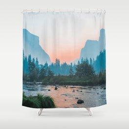 Pastel Yosemite #society6 #buyart Shower Curtain