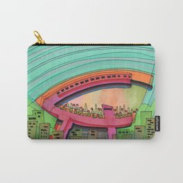 City Sky Cave Architectural Illustration 70 Carry-All Pouch