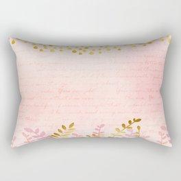 Orchid pink - golden rainforest Rectangular Pillow