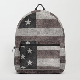 US flag in desaturated grunge Backpack
