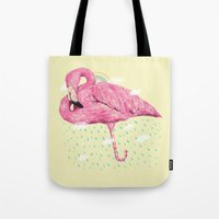 flamingo Tote Bags featuring Flamingo by dogooder