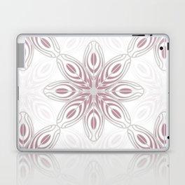 Feathers, Geometric Pattern in Mauve and Grey Laptop & iPad Skin