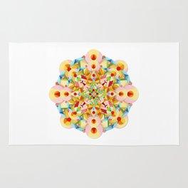 Pastel Carousel Mandala Rug
