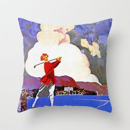 Cadenabbia Lake Como Golf And Tennis Throw Pillow