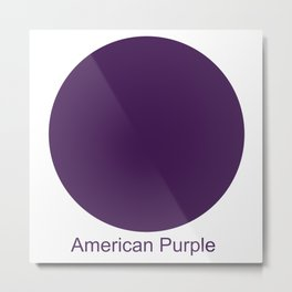 American Purple Metal Print