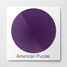 American Purple Metal Print
