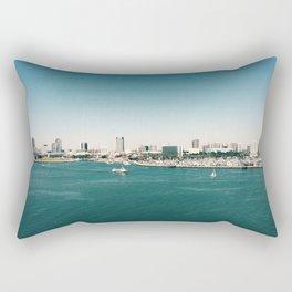 Dowtown Long Beach Rectangular Pillow