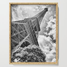Eiffel Tower in Paris, France Serving Tray