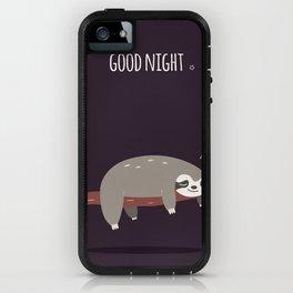 Sloth card - good night iPhone Case
