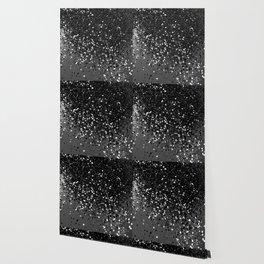 Dark Gray Black Lady Glitter #1 #shiny #decor #art #society6 Wallpaper