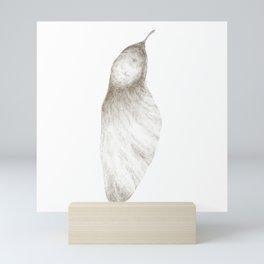 Samara seed (grey) Mini Art Print