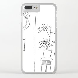 Ferny, Mirror and Rembrandt Clear iPhone Case