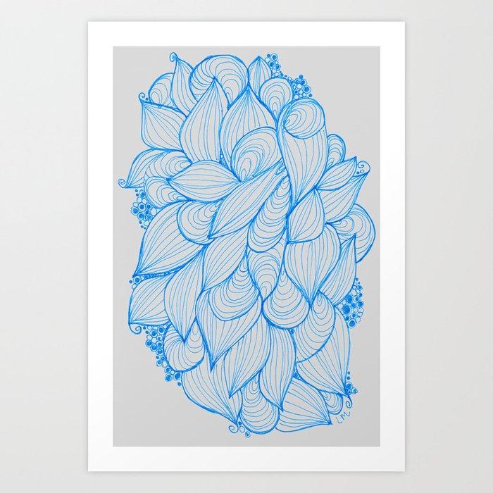 Blue Movement Art Print