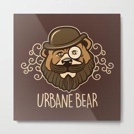 Urbane Bear Metal Print