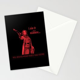 I Aim To Misbehave (Red) Stationery Cards
