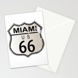Miami Route 66 Stationery Cards