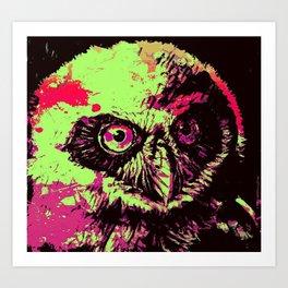 Rainbow Spectacled Owl Art Print