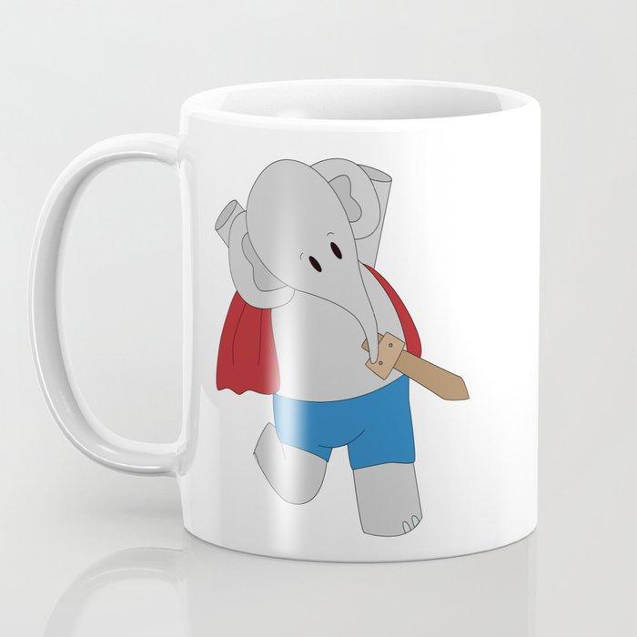Elphie and dad on an epic adventure  Coffee Mug