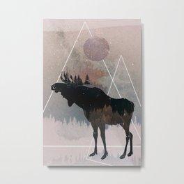 Canadian Moose Metal Print