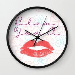 Blow A Kiss Wall Clock