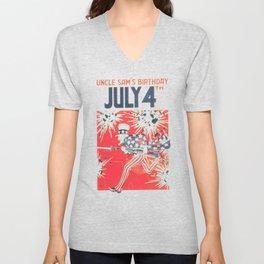 4th of July - Uncle Sam Unisex V-Neck