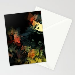 Aggregate Bloom Abstract 3 Stationery Cards