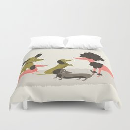 Canine conversations Duvet Cover