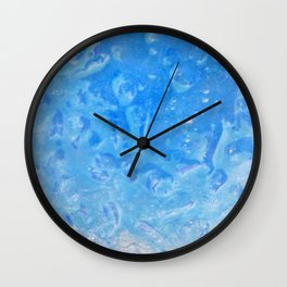 blue lagoon cocktail Wall Clock