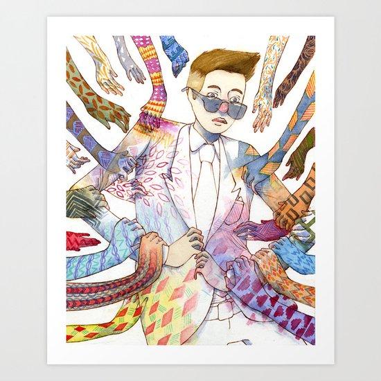 Leading Art Print