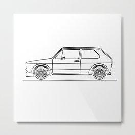 Golf MK1 Metal Print