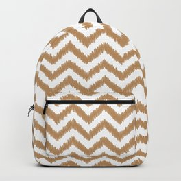 Gold Ikat Chevron Zigzag Pattern Backpack