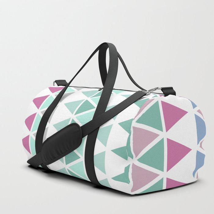 Modern geometric triangles Duffle Bag
