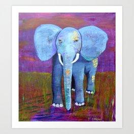spirit of the elephant Art Print