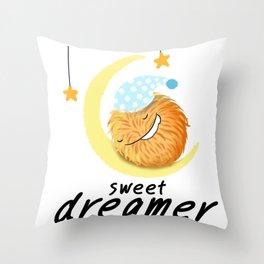 Pom Pom Pom : Omom, sweet dreamer Throw Pillow