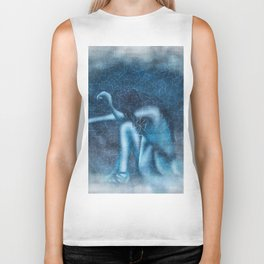 Blue Girl Tears Biker Tank