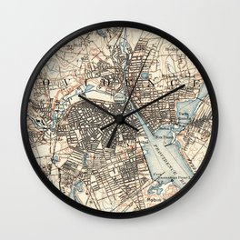 Vintage Map of Providence Rhode Island (1887) Wall Clock