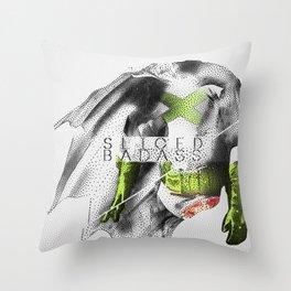 Sliced Badass Throw Pillow