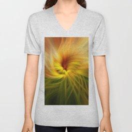 Sunflowers Twirled Unisex V-Neck