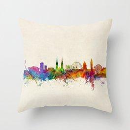 Belfast Northern Ireland Skyline Throw Pillow